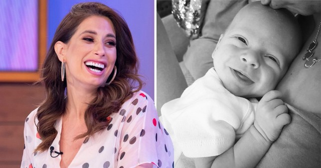 Stacey Solomon and newborn Rex