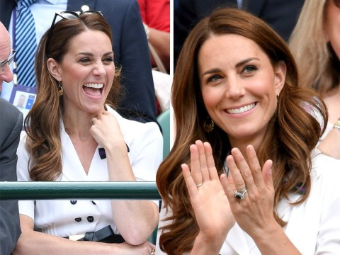 Kate Middleton arrives at Wimbledon to watch Serena Williams