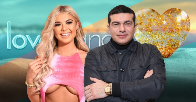 Comp of Love Island's Belle Hassan and her dad Tamer Hassan