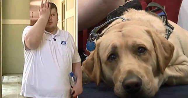 Blind man,Taylor Burch and his dog Indy were instructed to leave the Sunday service at Lowcountry Community Church in South Carolina because they don't allow service dogs