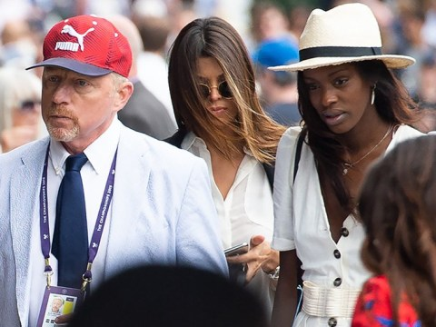 Boris Becker makes first public appearance with model Layla Powell at Wimbledon