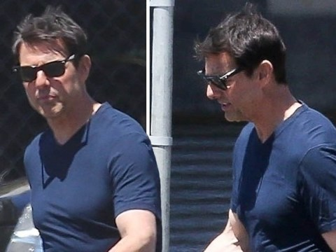 Tom Cruise looks pumped in his first appearance since Justin Bieber 'agreed to fight him'