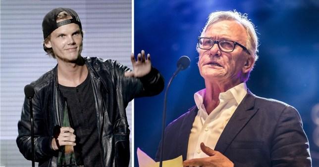 Avicii and his father Klas Bergling