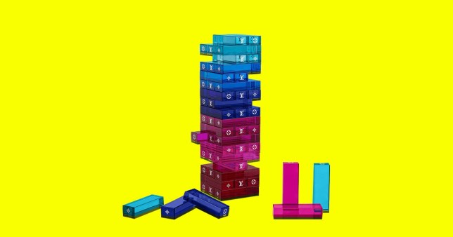 louis vuitton is selling a jenga style Monogram Tower