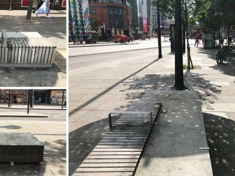 Airbnb user puts up £1,000 a night bench in 'fashionable Shoreditch' to raise awareness of homelessness