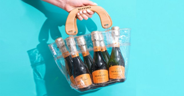 There's now a waterproof handbag for all your Prosecco.