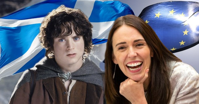 jacinda ardern and frodo from lord of the rings