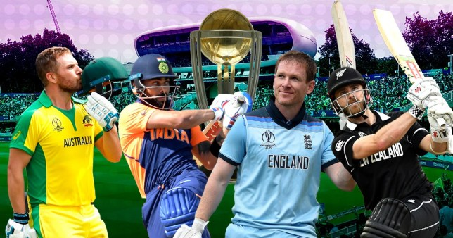 Australia, India, England and New Zealand will battle it out in the Cricket World Cup semi-finals
