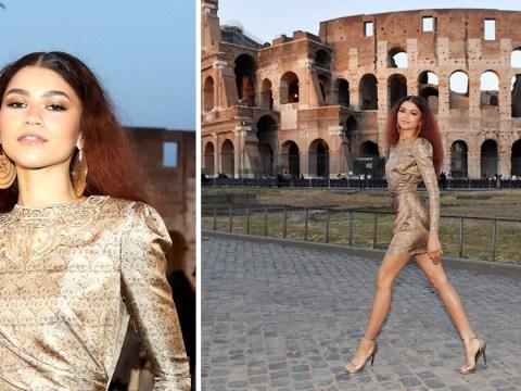 Zendaya makes Rome her catwalk as she jokes about wearing heels on cobbles