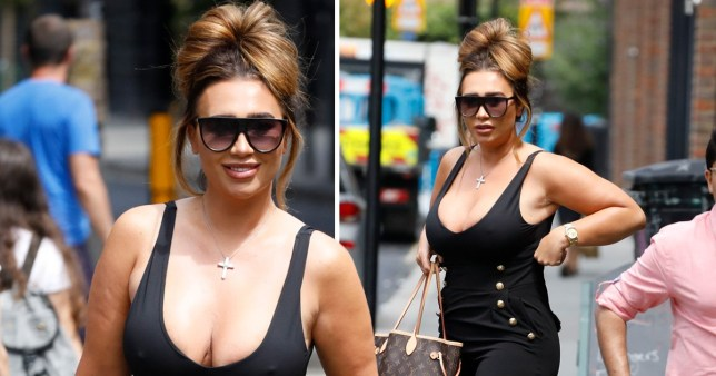 Lauren Goodger puts on game face for Celebs Go Dating after crying in street the night before
