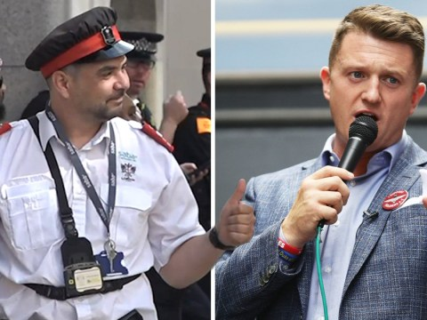 Parking warden who put ticket on Tommy Robinson support bus cannot contain his joy