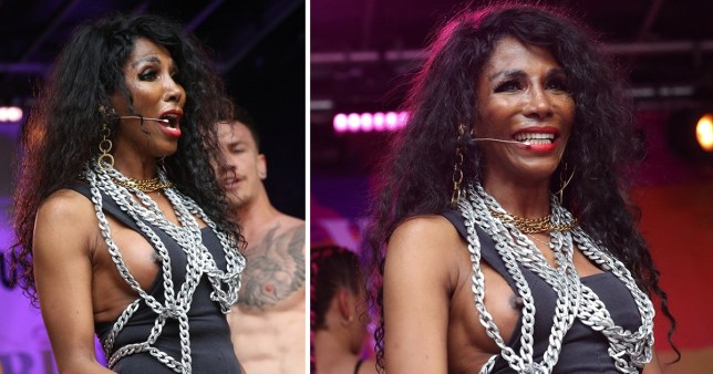 Sinitta has so much fun at London Pride her nipple popped out