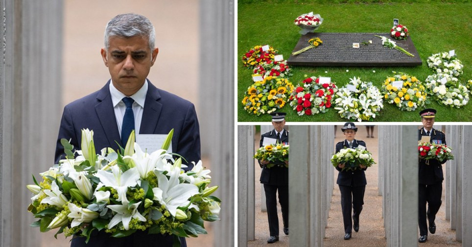 Sadiq Khan honours 52 victims killed in 7/7 bombings with flowers on the Hyde Park memorial marking the 14th anniversary