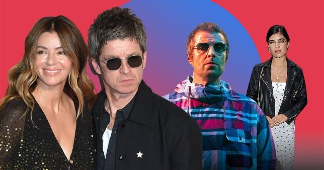 Liam Gallagher with Molly Moorish, Noel Gallagher and Sara MacDonald