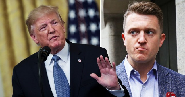 Tommy Robinson has begged Donald Trump for 'political asylum' in the US
