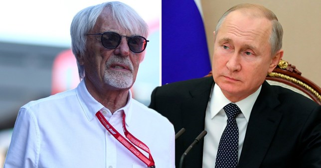Former F1 boss Bernie Ecclestone said he would 'stand in front of a machine gun' to save Russian leader Vladimir Putin.