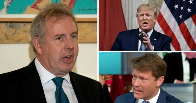 Donald Trump said he would 'no longer deal' with Sir Kim Darroch