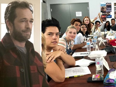 Riverdale cast pay tribute to 'our beloved Luke' Perry at season four table-read