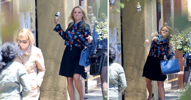 reese witherspoon throwing ice cream at meryl streep
