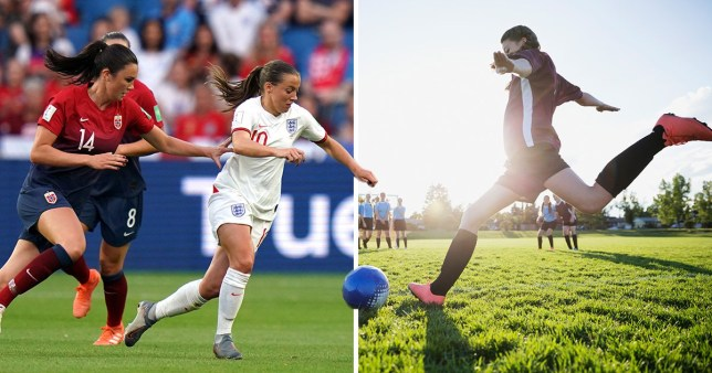 The number of girls and women playing football has sky rocketed (Picture: PA/ Getty)