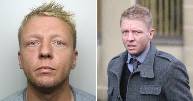 Two pictures of former police officer Matthew Essex, 38, from Huddersfield, who was jailed for 18 years for raping two women