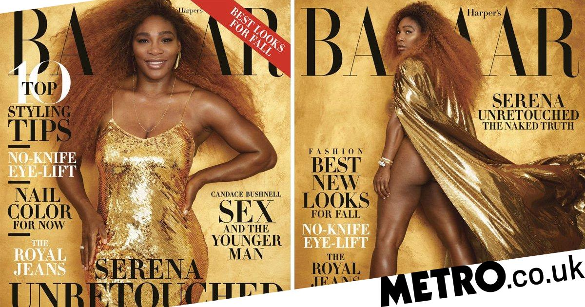 Serena Williams Is An Absolute Goddess In Gold In Nude -6430