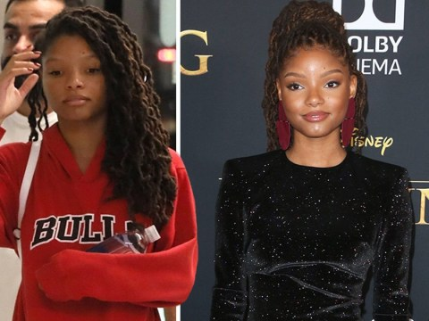 Halle Bailey seen for first time since The Little Mermaid casting before hitting up Lion King premiere with Beyoncé