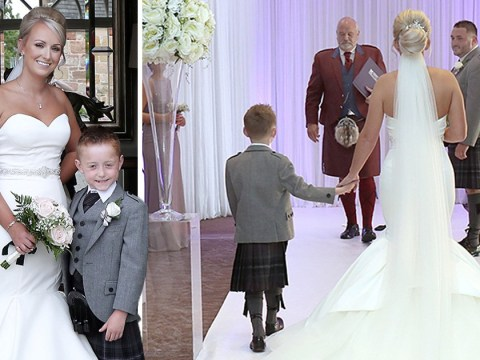 Mum's dream comes true as son with life-limiting condition walks her down the aisle