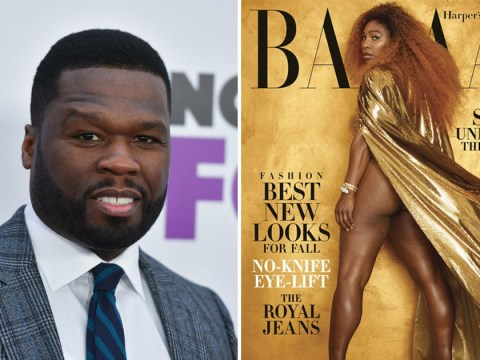 50 Cent admires Serena Williams' bootylicious cover shoot and fans remind him she's married