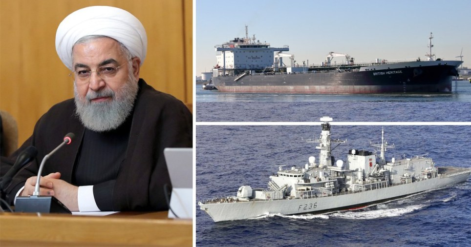Iran President Hassan Rouhani, British Heritage oil tanker and HMS Montrose