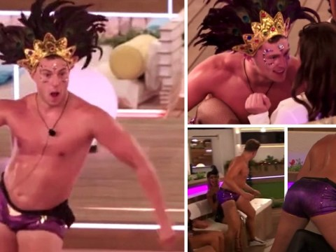 Love Island viewers lose it over Curtis Pritchard's sexy dancing in feather headdress and hotpants