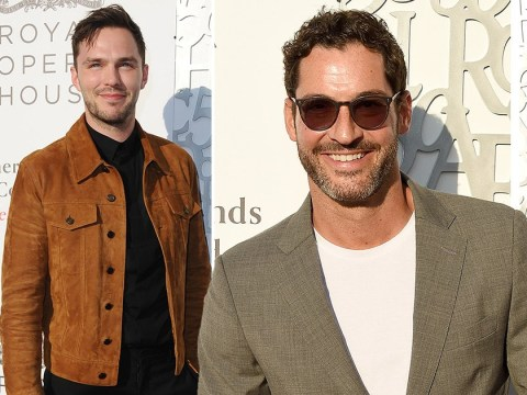 Tom Ellis parties with Cat Deeley and Nicholas Hoult as production for Lucifer season 5 kicks off
