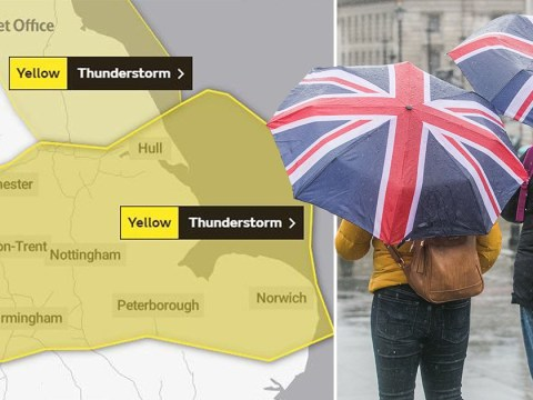 Month's rain set to fall in two hours as Met Office issues severe weather warning