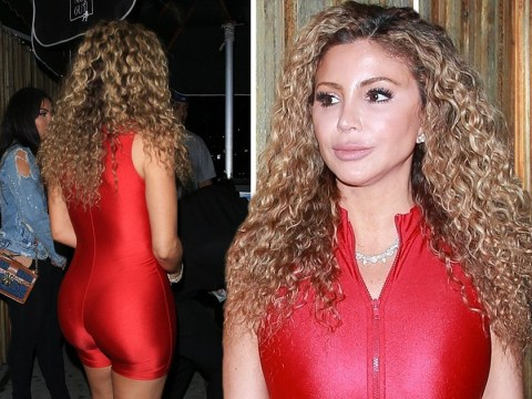 Larsa Pippen has disco fever in skintight unitard after spilling tea on Jordyn Woods and Tristan Thompson