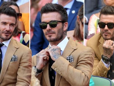David Beckham continues to be a style god as he graces Royal Box at Wimbledon