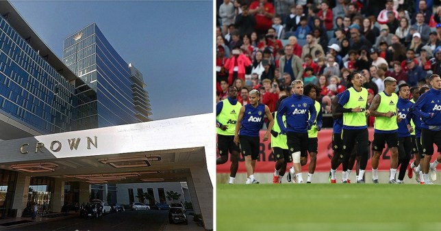 Manchester United. Crown hotel Perth Australia