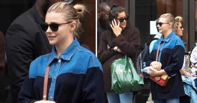 Chloe Grace Moretz and 'girlfriend Kate Harrison' spotted shopping in Harrods