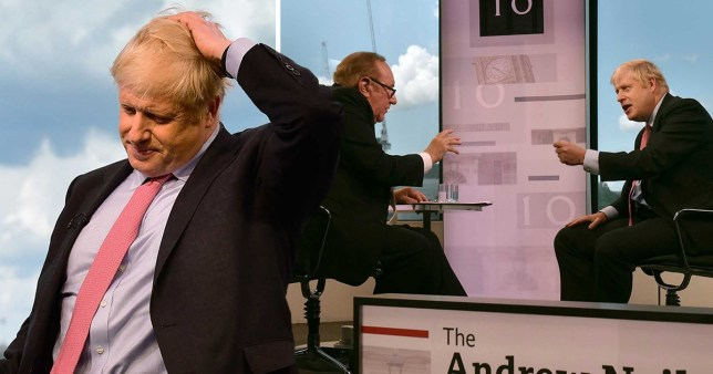 Boris Johnson tried to show off to Andrew Neil, but it didn't go well (Picture: Getty)