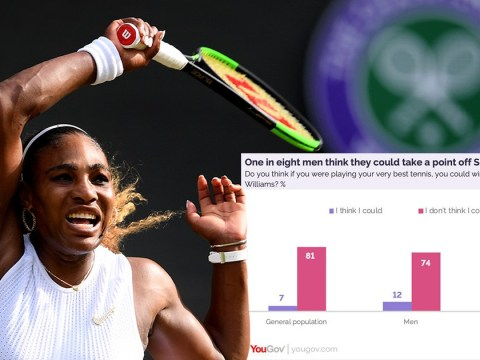 'Delusional' men ridiculed after one in eight say they can beat Serena Williams