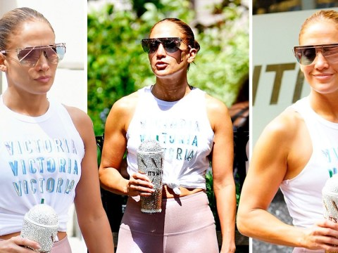 Jennifer Lopez has clearly been working on her fitness as she welcomes us all to the gun show