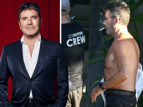 Simon Cowell goes topless while filming Celebrity X Factor in Malibu