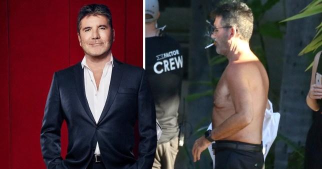 Simon Cowell shirtless