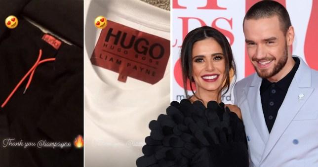 Liam Payne sends Cheryl his Hugo boss clothes