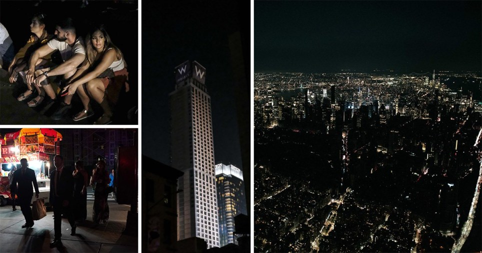 New York in darkness after a power outage in Manhattan