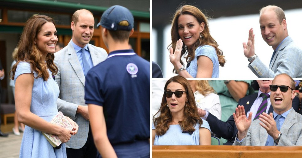 William and Kate, the Duke and Duchess of Cambridge, at Wimbledon