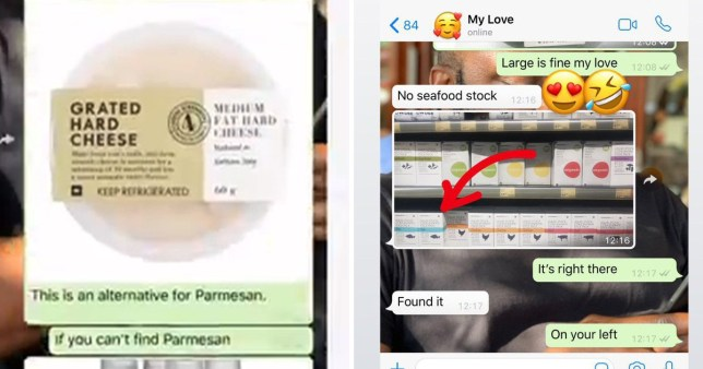 Man is incapable of doing food shopping unless his girlfriend sends him pictures