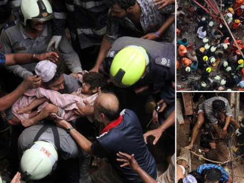 Dozens trapped and seven dead after Mumbai building collapses after monsoon rains