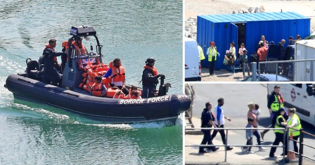 'Up to 38 migrants' detained crossing the Channel