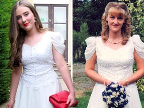 Teen wore her mum's 20-year-old wedding dress to prom to save money