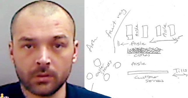 Bungling burglar caught after hand-drawn map of shop found in his bin